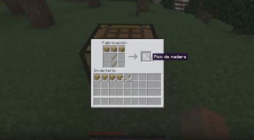 como-hacer-un-pico-de-madera-minecraft