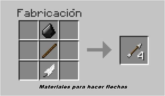 como-hacer-flechas-en-minecraft-materiales